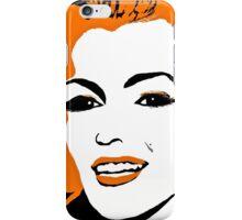 Marilyn so Lovely in Orange and Black iPhone Case/Skin