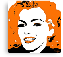 Marilyn so Lovely in Orange and Black Canvas Print