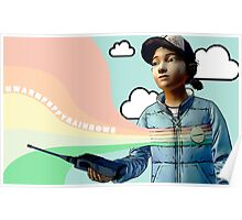 TWDG Warm Puffy Rainbows Poster