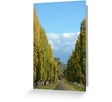 Keep on the straight and narrow Greeting Card
