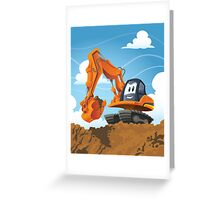 Digger Greeting Card
