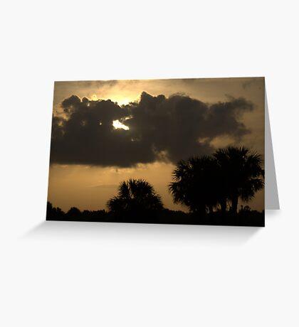 Sunrise over the Everglades, Alligator Alley, Florida Greeting Card