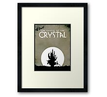 Visit the Castle of the Crystal Framed Print