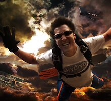 Sky Diving with a twist by CGIStudios
