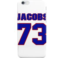 National football player Proverb Jacobs jersey 73 iPhone Case/Skin