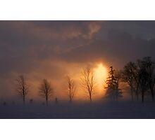 Blizzard Sunset Photographic Print