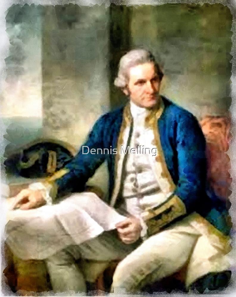 Portrait of Captain James Cook by Dennis Melling
