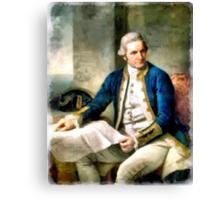 Portrait of Captain James Cook Canvas Print