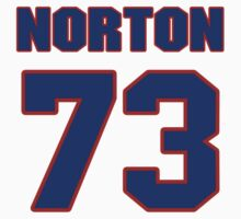 National football player Jim Norton jersey 73 by imsport
