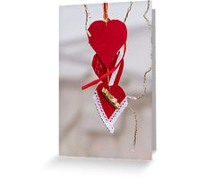 heart Christmas decorations Greeting Card