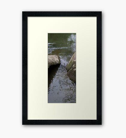 HDR Composite - River Water Between Rocks Framed Print