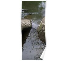 HDR Composite - River Water Between Rocks Poster