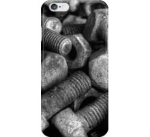 Nuts & Bolts BW iPhone Case/Skin