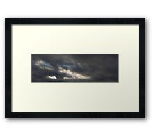 HDR Composite - Rough Clouds and Sky Framed Print