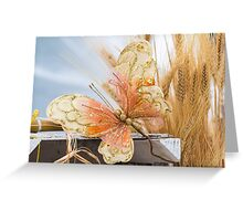 colored handmade butterfly Greeting Card