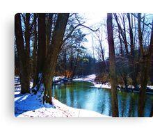 Turqouise Glitter Canvas Print