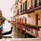 Venice side canal by al holliday