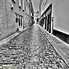 Cobbled Alley by DES PALMER