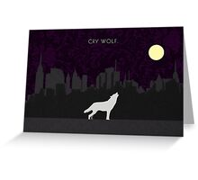 Cry Wolf Concept Greeting Card