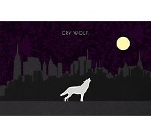 Cry Wolf Concept Photographic Print