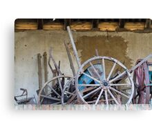 old barn and tools Canvas Print