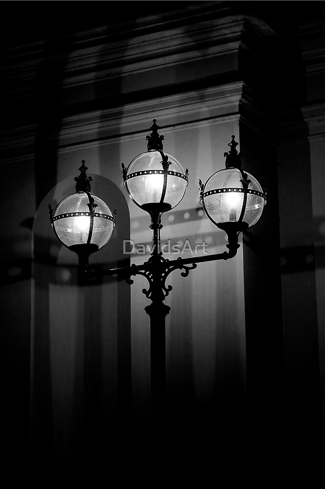 Exhibition Lights BW by DavidsArt