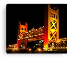 Tower Bridge raised (Sacramento, California USA) Canvas Print
