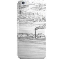 My Pencil Drawing of a Paddle Steamer on the Danube - all products bar duvet iPhone Case/Skin