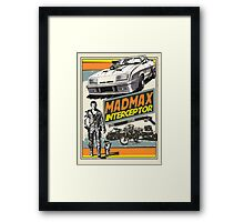 Mad Max V8 Interceptor Framed Print