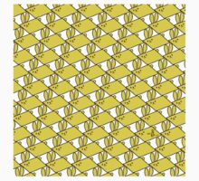 Tessellation Pattern Yellow Parallelograms One Piece - Long Sleeve