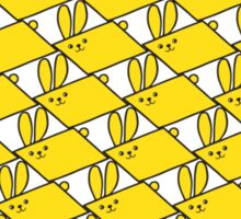 Tessellation Pattern Yellow Parallelograms Sticker
