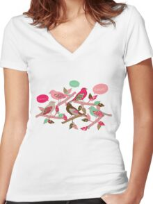 Tweet Tweet Women's Fitted V-Neck T-Shirt
