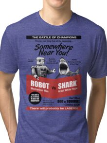 Robot vs. Shark Tri-blend T-Shirt