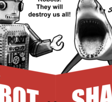 Robot vs. Shark Sticker