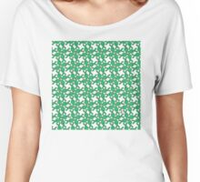 Tessellation Pattern Green Rhombuses Women's Relaxed Fit T-Shirt