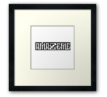 Amaze Me Cute Cool Wordplay Illusion Clever Framed Print