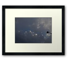 HDR Composite - Straight Up Light Stick and Sky Framed Print