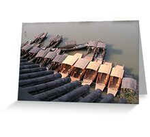 Chinese boats on a ZhuJiaJiao canal Greeting Card