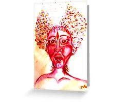Goddess in red Greeting Card