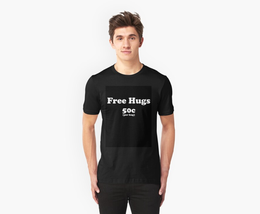 free hugs black by Imogene Munday