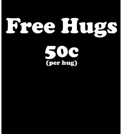 free hugs black Sticker