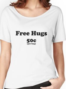 free hugs white/colour Women's Relaxed Fit T-Shirt