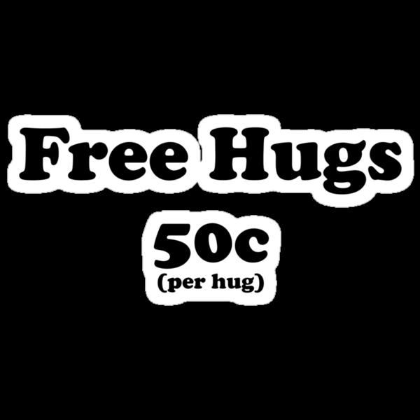 free hugs white/colour by Imogene Munday