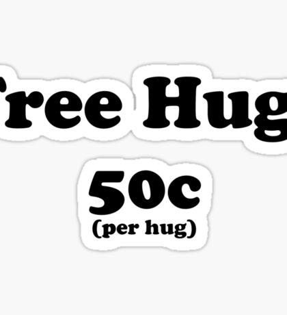 free hugs white/colour Sticker