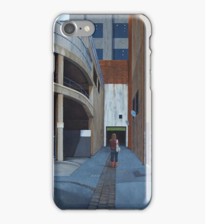 Secret Meeting IV, Oil on Linen, 101x83cm iPhone Case/Skin