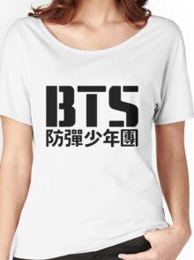 BTS Bangtan Boys Logo/Text Women's Relaxed Fit T-Shirt