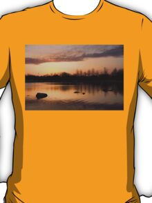 Gloaming - Subtle Pink, Lavender and Orange at the Lake T-Shirt