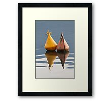 buoy on  lake Framed Print