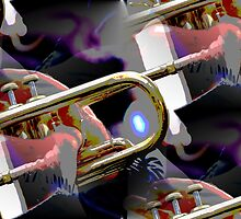abstract old trumpet by spetenfia