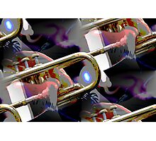 abstract old trumpet Photographic Print